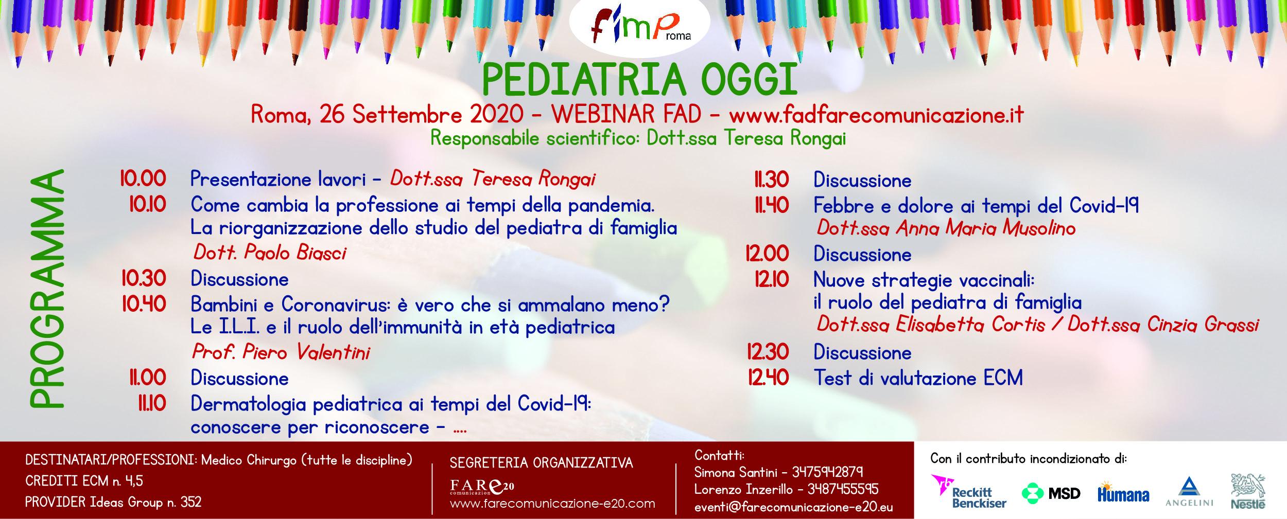 FIMP Roma pediatria oggi